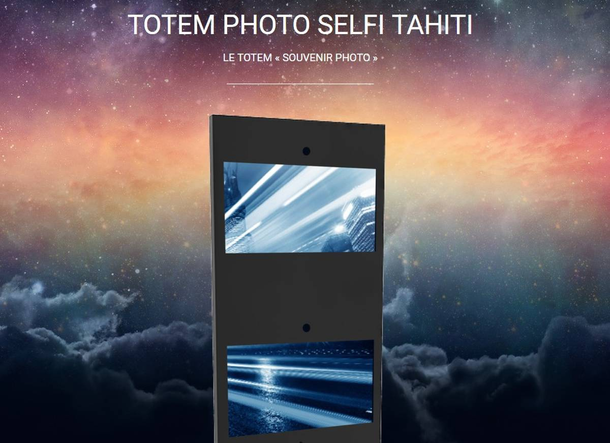 Totem selfie impression photo
