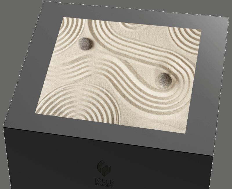 Borne tactile Onyx zoom vue de biais sans interface